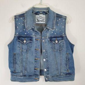 Levi's Star Studded Denim Jean Vest